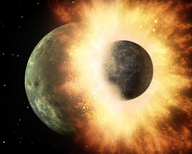【ジャイアント・インパクト】月を作った地球への巨大隕石衝突は「あまりにも強烈で、地球の大部分が蒸発した」