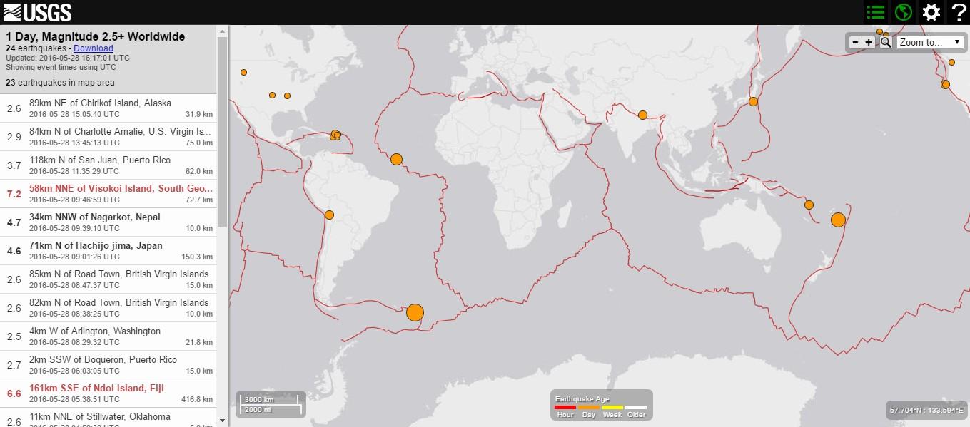 【大西洋】サウスサンドウィッチ諸島でM7.2の地震、同諸島近海にあるブリストル島・火山が5月1日には60年ぶりに大噴火…フィジーでもM6.6の地震発生