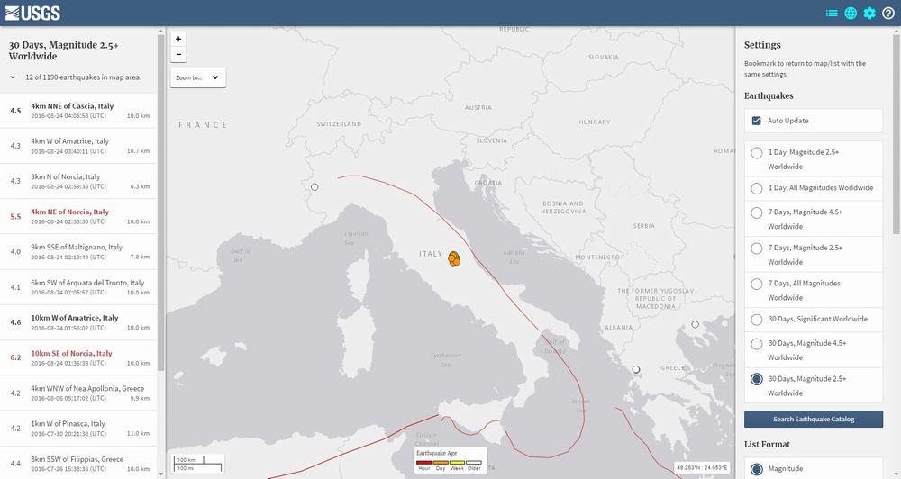 イタリアで「M6.2」の地震が発生…M5.5、M4クラスの余震が続く 「町が半分無くなり、被害甚大」