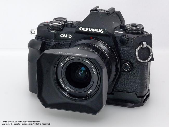 M.ZUIKO DIGITAL ED 12mm F2.0  + OM-D E-M5 Mark2 フードあり