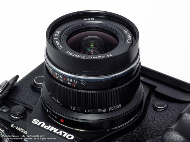 M.ZUIKO DIGITAL ED 12mm F2.0をOM-D E-M5 Mark2に装着