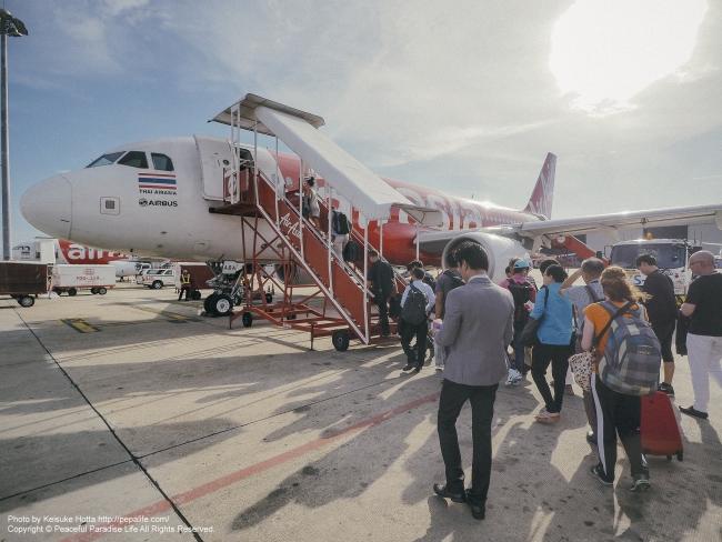 ミャンマーのヤンゴン行きエアアジア便