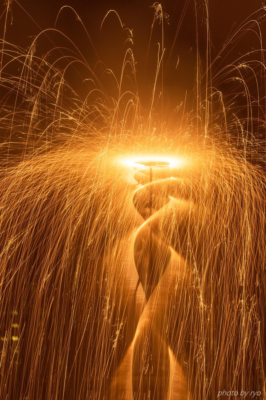 傘火と吹火と綱火と手筒花火_1