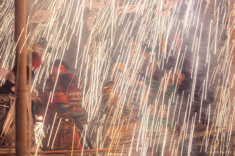 傘火と吹火と綱火と手筒花火_3