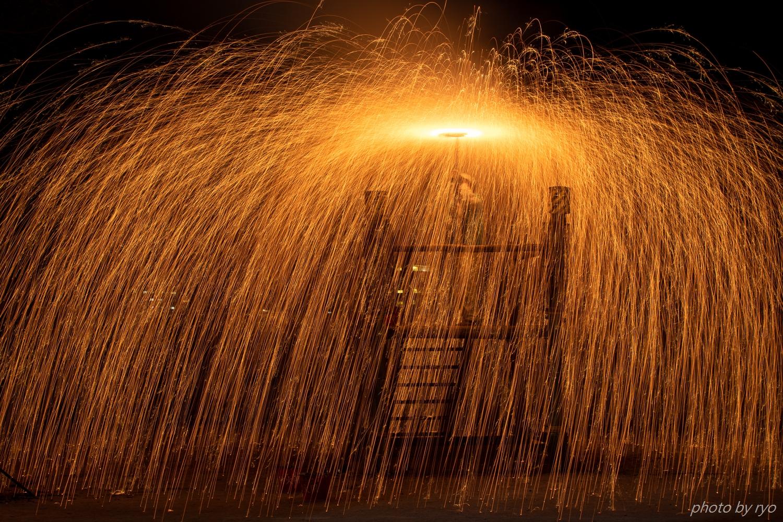 傘火と吹火と綱火と手筒花火_5