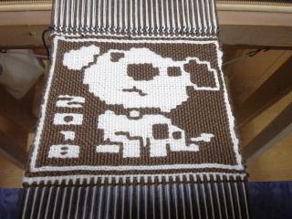 ヤノフ村の二重織り方式の犬2