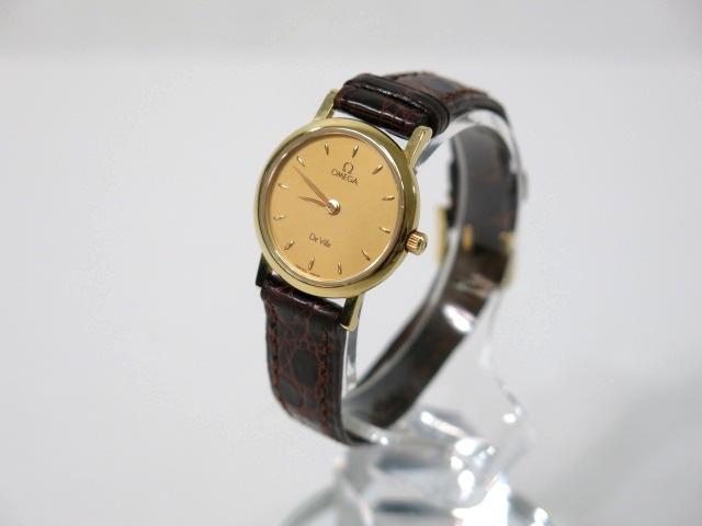OMEGA オメガ デビル 750刻印 レディース 腕時計