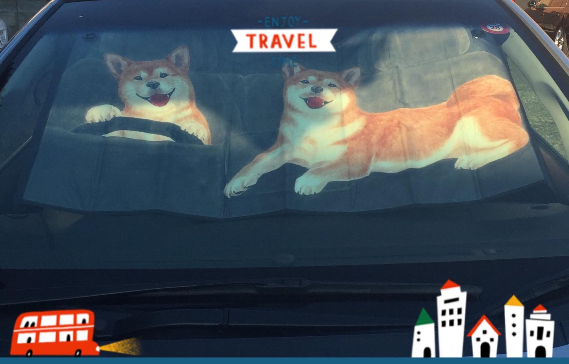 フェリシモ・柴犬の「ワンシェード」が可愛い!