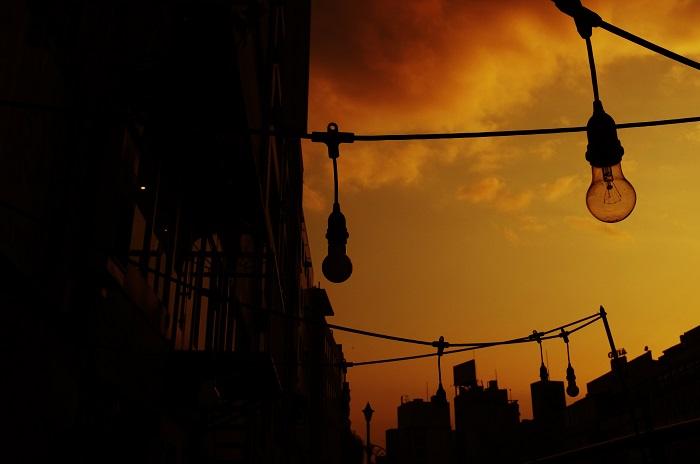 フリー画像夕陽