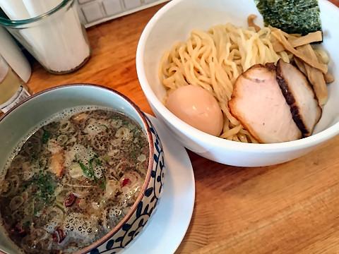つけ麺・煮玉子トッピング@中華そば 閃
