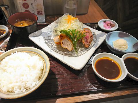 豚牛食べ比べ定食@矢場とん