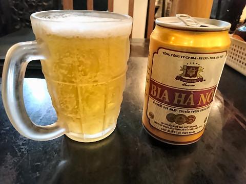ベトナムビール「ビア・ハノイ」@ビアホイ
