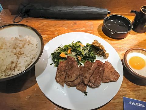 牛タン焼+麦飯+とろろ@牛タン吉次
