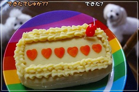 で、初の手作りケーキが完成~!!