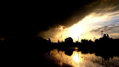 恵みの雨…