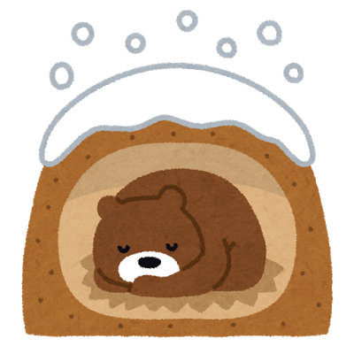 「こたつ クマ 冬眠 」の画像検索結果