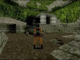 セガサターン版トゥームレイダーのゲーム画面